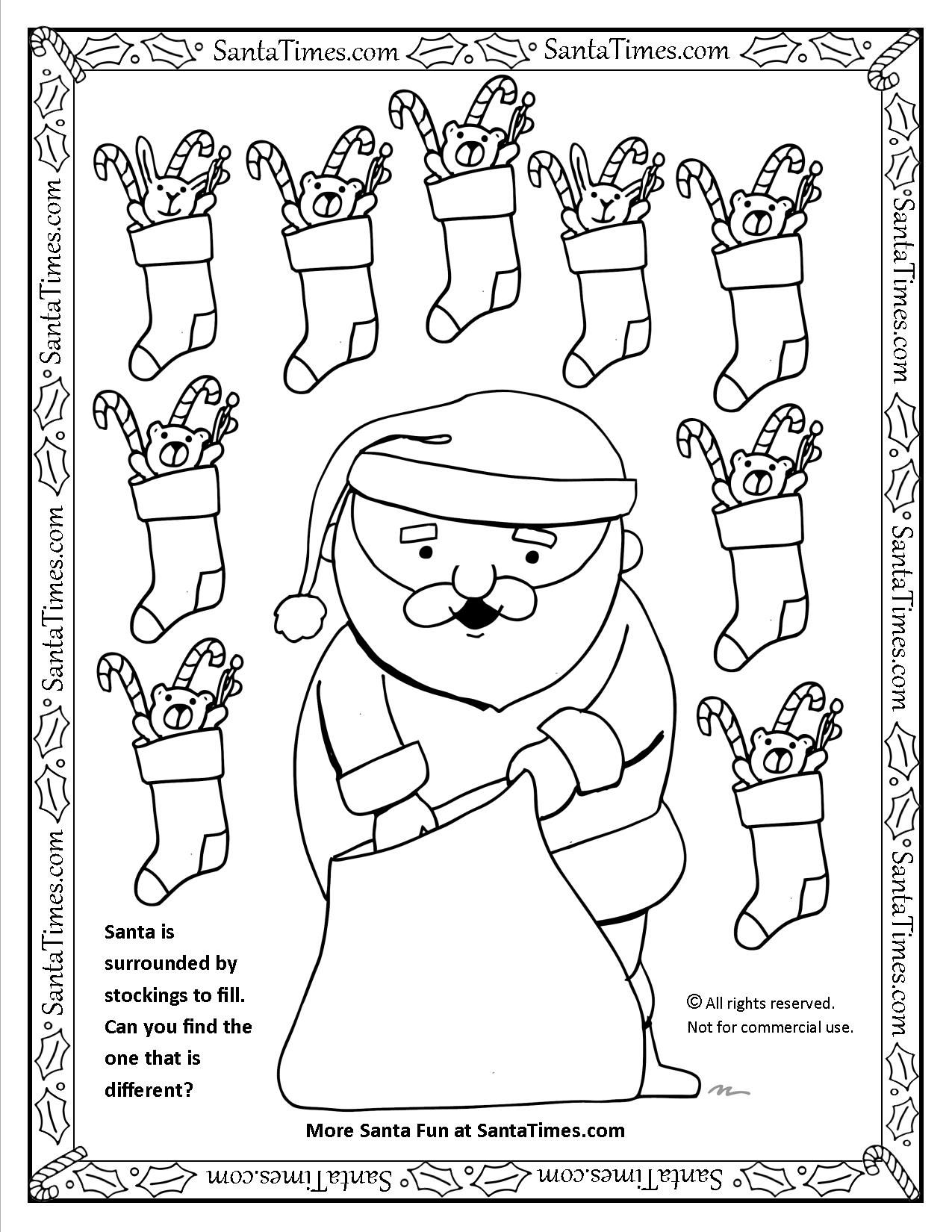 Santa Fills Stockings Christmas Activity And Printable