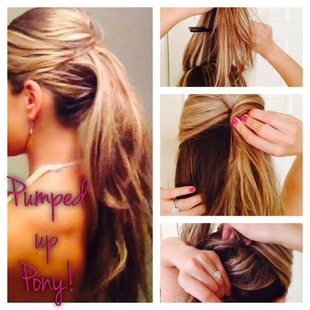 Pumped Up Pony Ponytail Hairstyle Summer Hairstyle Updo Mommy