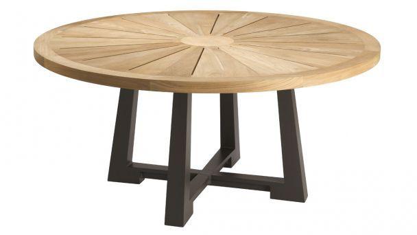 Table jardin ronde bois petite table de jardin en bois | Nouvel essence