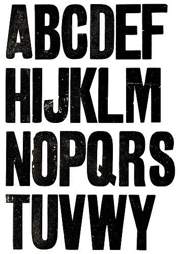 Wood Type Impression | Letterpress Sites and Interesting