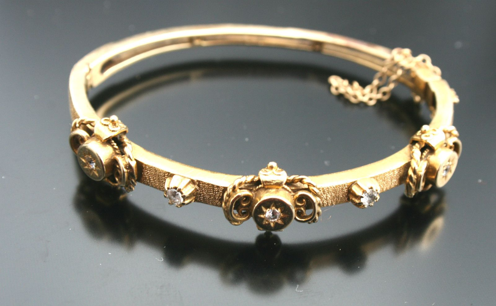 exquisite pin bracelet bangle solid antique bangles that gold grams all