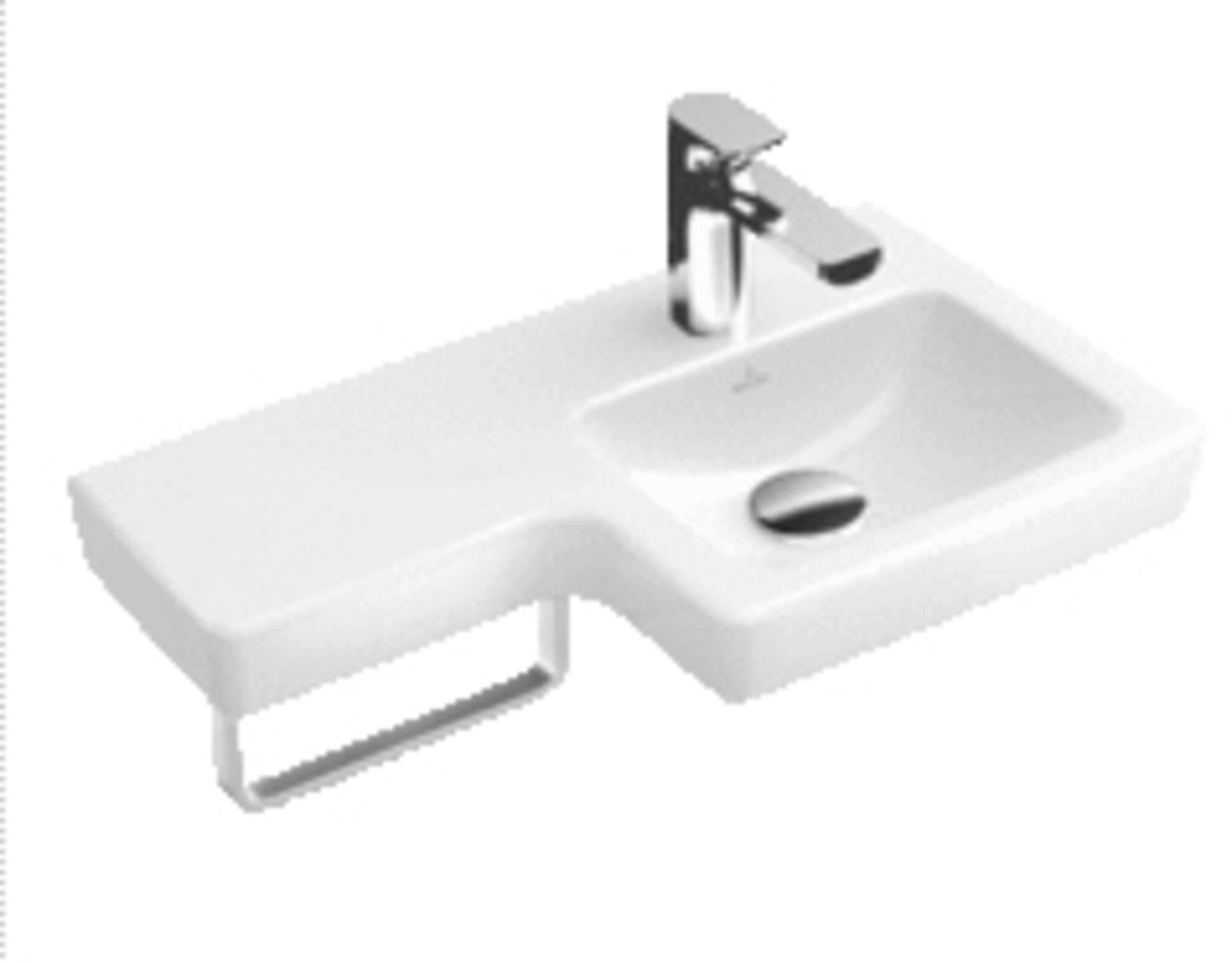 Wastafel 63x35 5 cm. met rechte wasbak rechts c badkamer