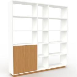 Photo of Regalsystem weiß – flexibles Regalsystem: Türen aus Eichenholz – hochwertige Materialien – 190 x 200 x 35