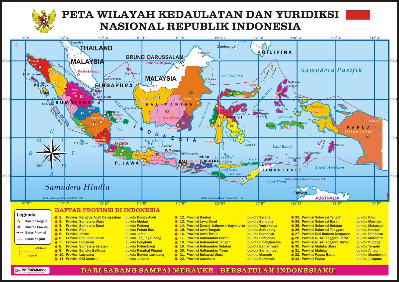 Peta Wilayah Kedaulatan Yuridiksi Nasional Ri Peta Indonesia Peta Dunia