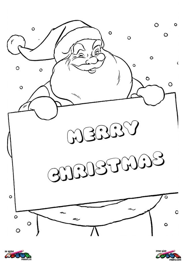 Gratis Kleurplaten Kerstman.Kerst Kleurplaat Christmas017 Christmas Cards Coloring