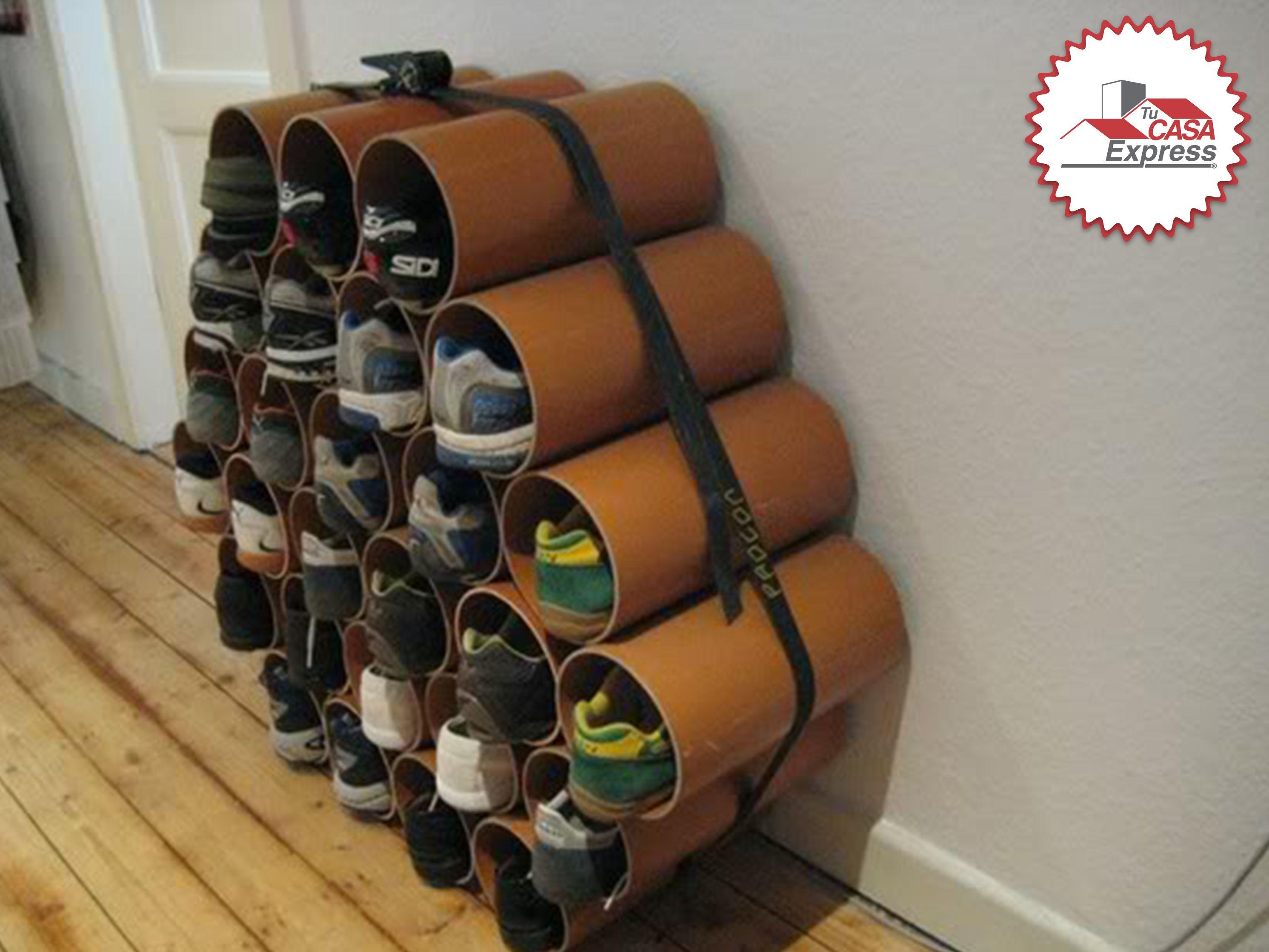 DIY Un zapatero elaborado con tubos de cart³n