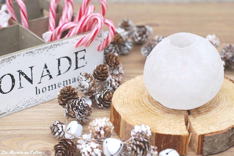 D coration mariage hivernal diy des photophores en glace for Decoration glace
