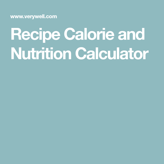 Try our recipe nutrition calculator calculator and recipes try our recipe nutrition calculator forumfinder Images