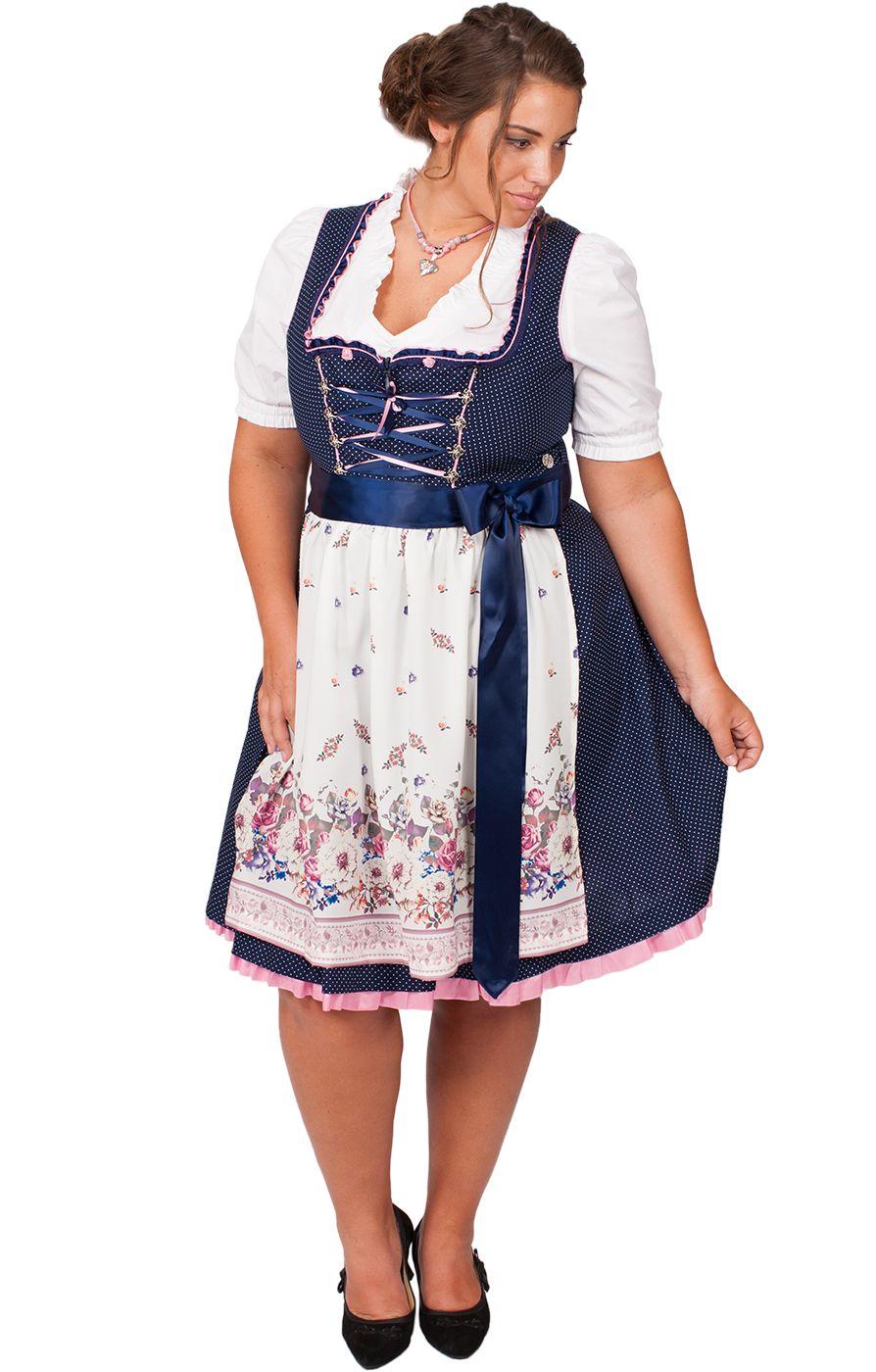 Mididirndl 2tlg 58cm Plus Size Blau Rosa In 2020 Dirndl Mode Grosse Grossen Und Dirndl Grosse Grossen