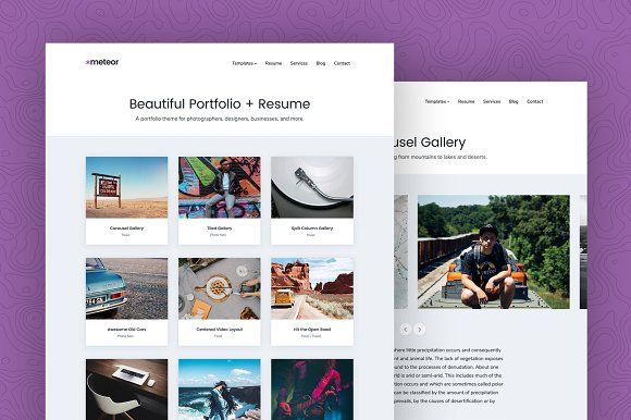 Meteor - Portfolio  Resume Theme @creativework247 WordPress