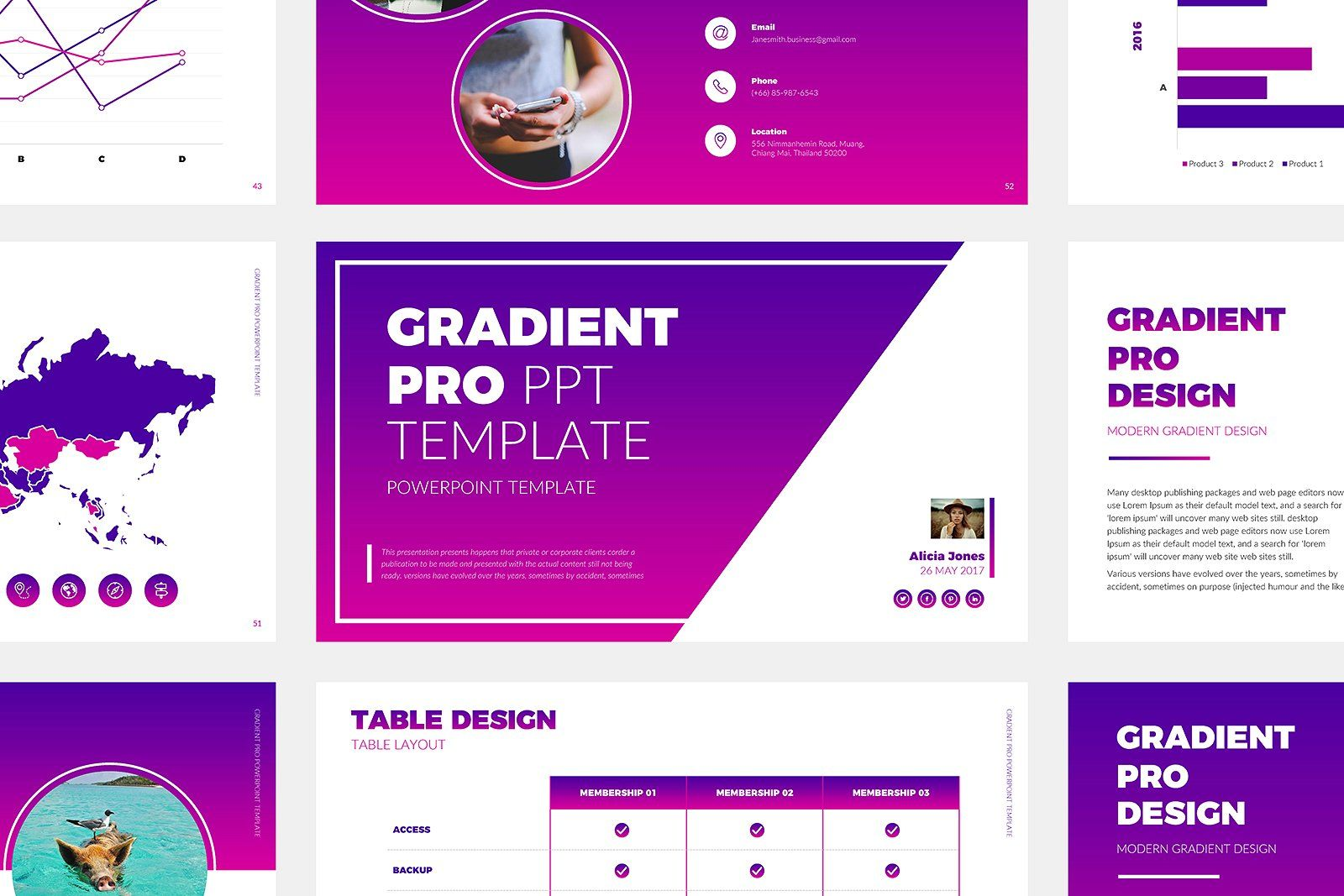 Gradient Pro Powerpoint Template Powerpoint Templates Templates Power Point Template