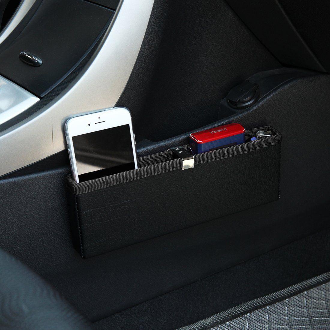 KMMOTORS Ultra Slim Side Pocket BlackCar Seat OrganizerCar Pockets