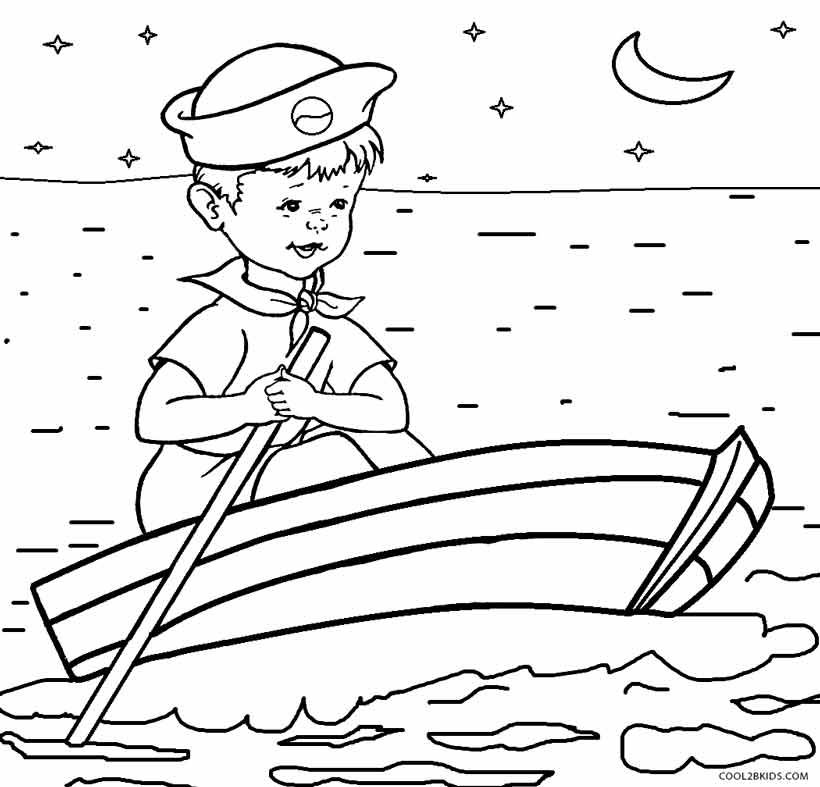 Ski Boat Coloring Pages See The Category To Find More Printable