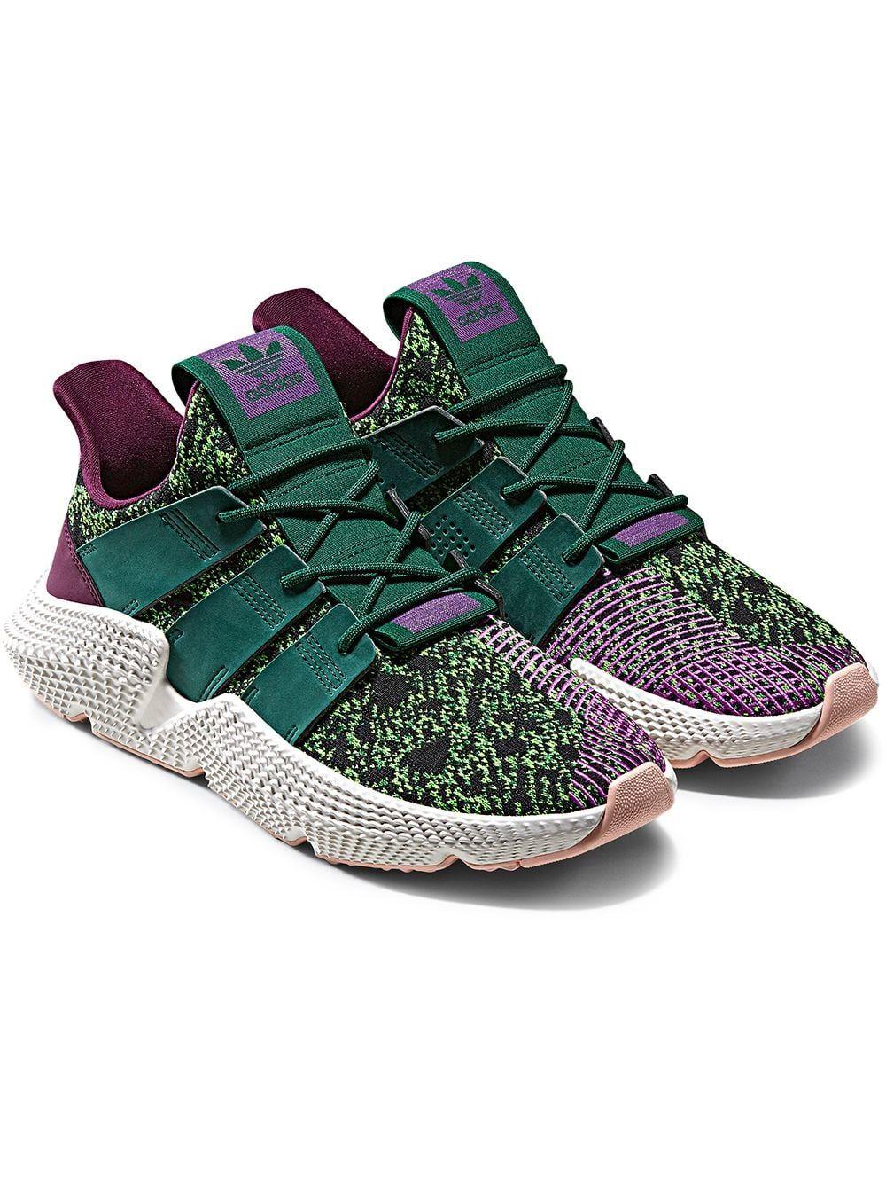 b49e2ea422815 ADIDAS ORIGINALS ADIDAS GREEN AND PURPLE PROPHERE DRAGON BALL Z CELL  EDITION SNEAKERS.  adidasoriginals  shoes