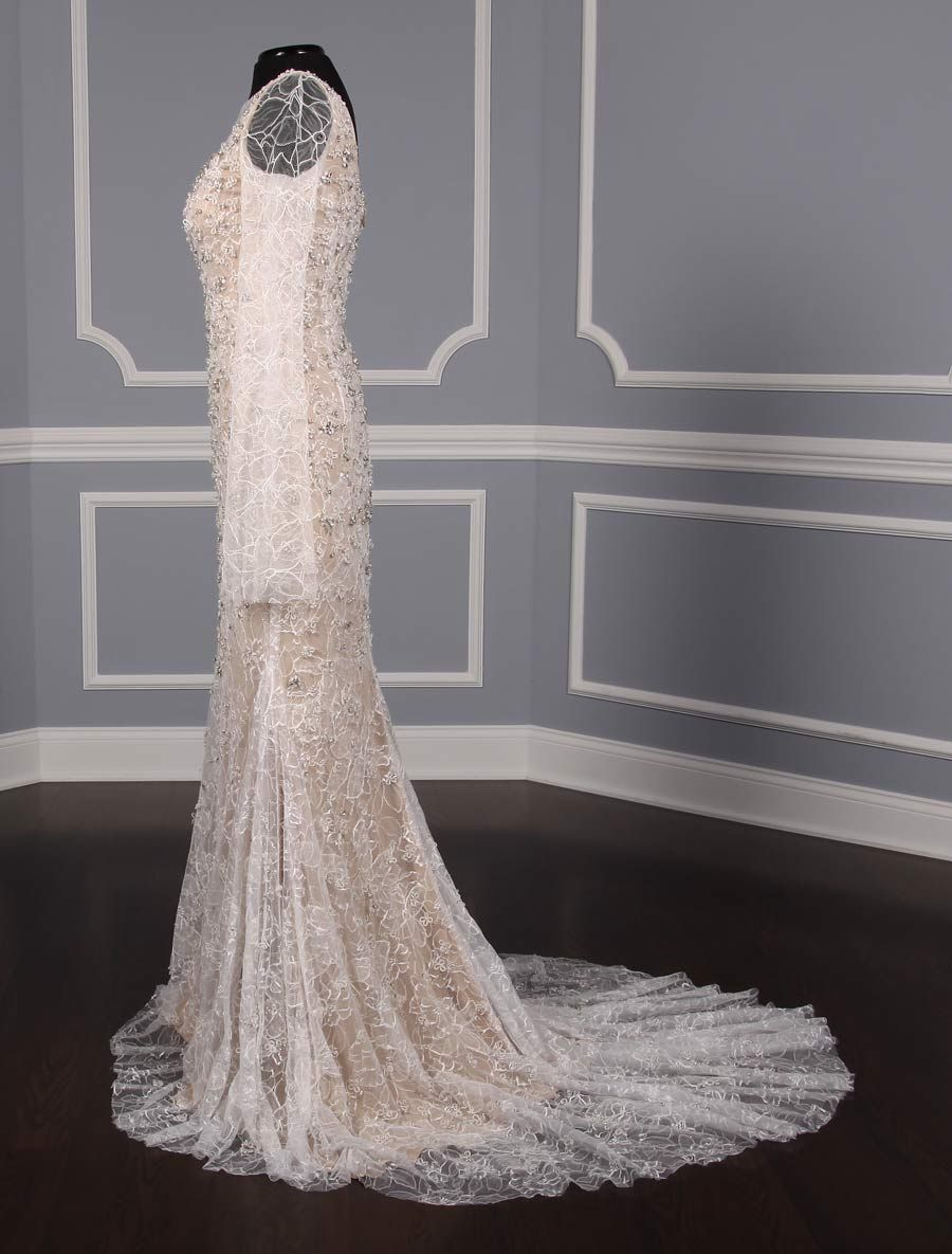 This vera wang luxe paige wedding dress is from the luxe collection