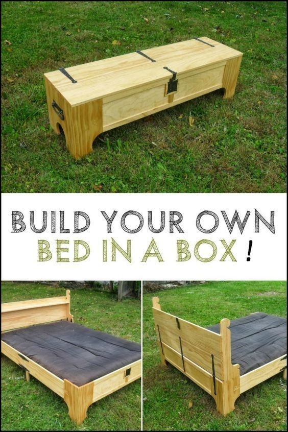 Queen Size Folding Bed Version 1 Box bed, Spare bed, Diy bed