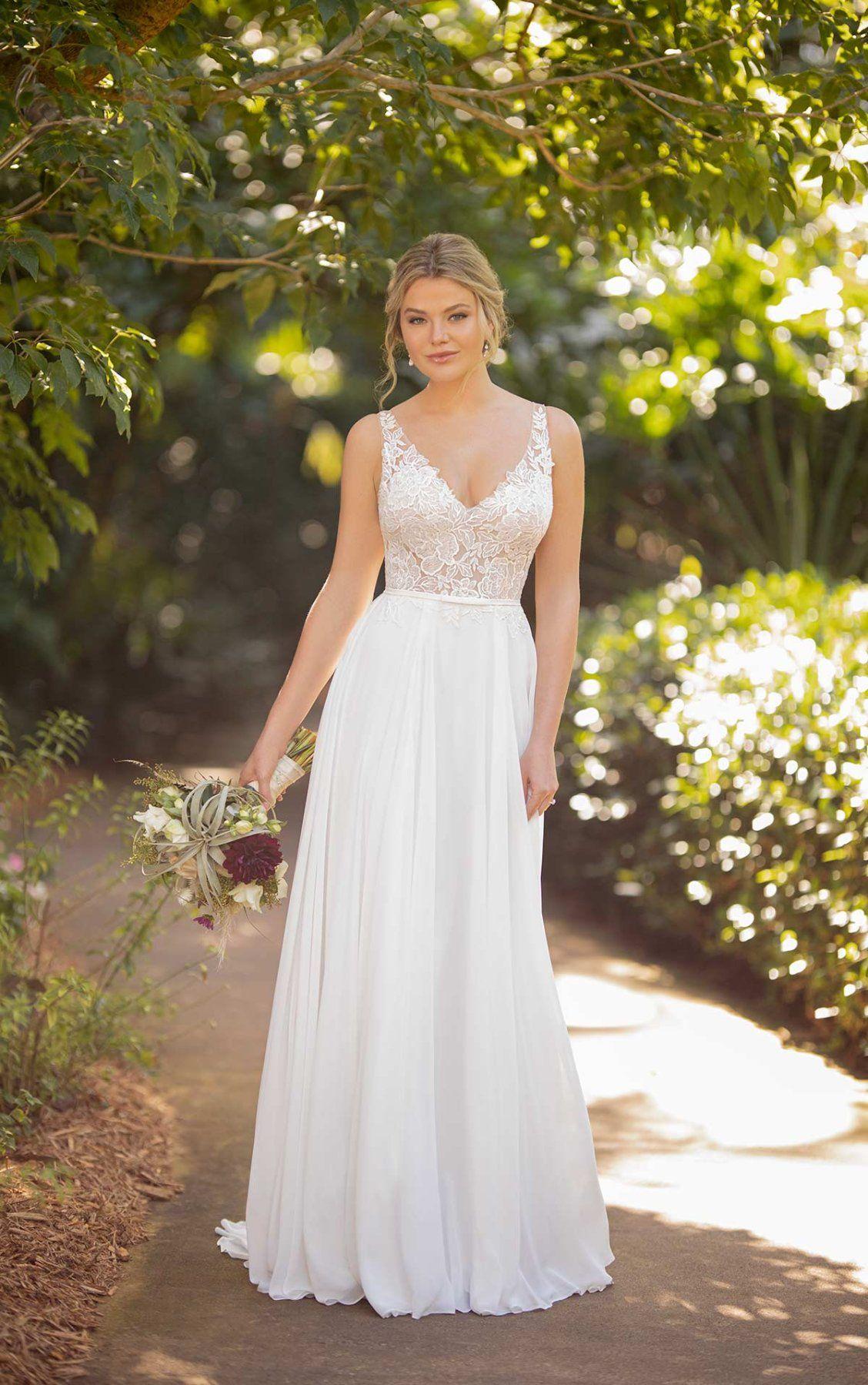 Lace And Chiffon Wedding Dress With Detachable Belt Essense Of Australia Wedding Dresses Essense Of Australia Wedding Dresses Wedding Dresses A Line Wedding Dress [ 1799 x 1128 Pixel ]
