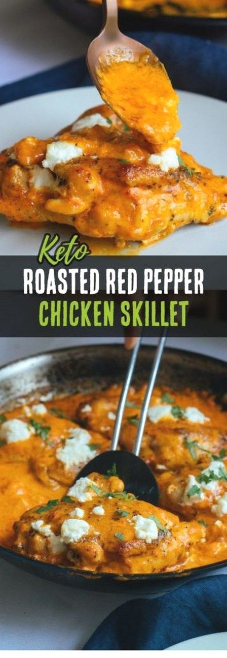 Roasted Red Pepper Chicken Thighs | Keto Recipes