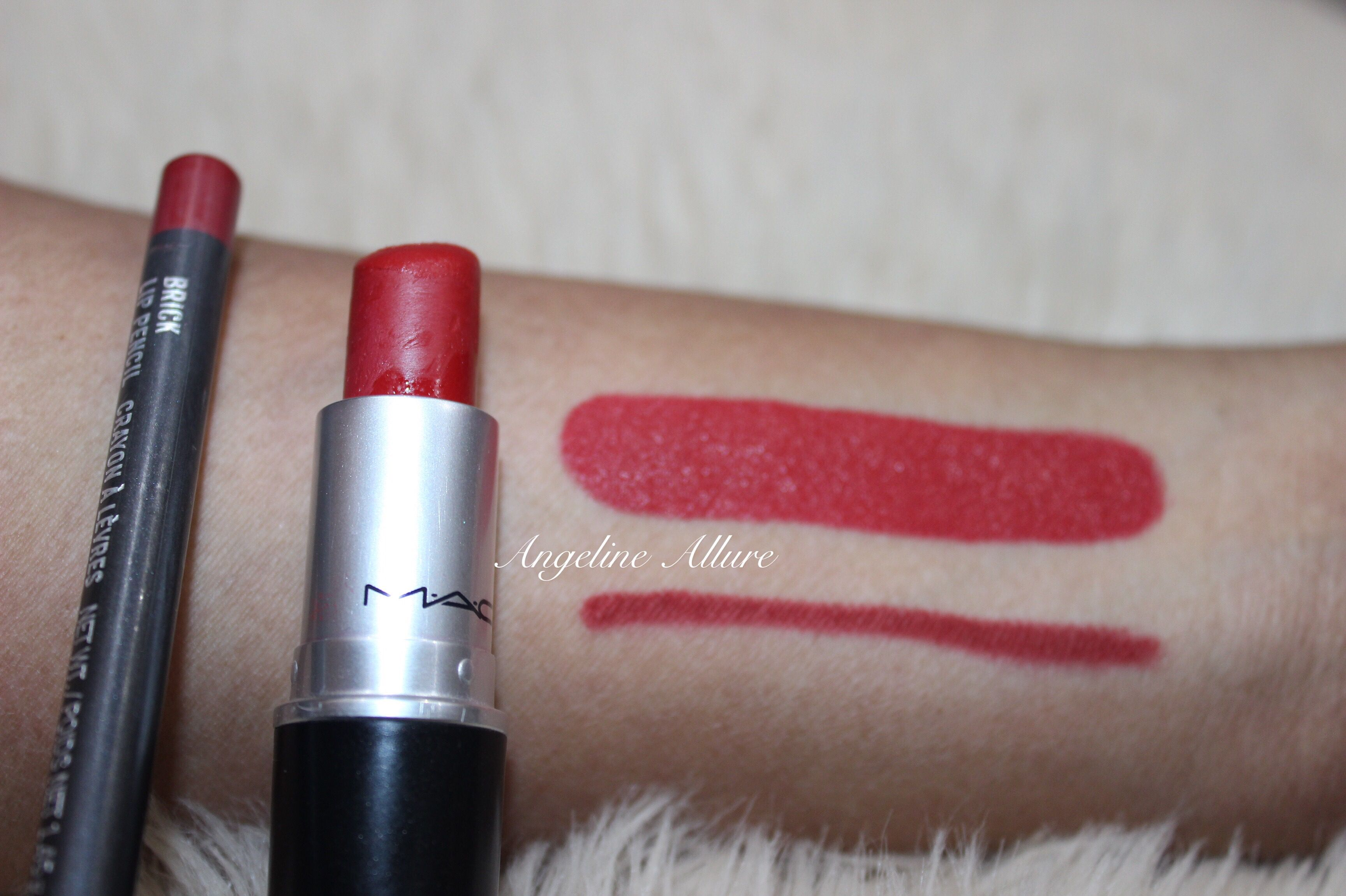 Mac Brick Lip Pencil Perfectly Matches Russian Red Lipstick I Draw