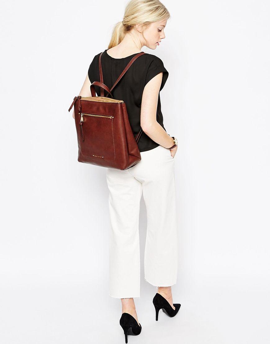 Image 3 of Fiorelli Brodie Zip Top Backpack with Zip Front Pocket ...
