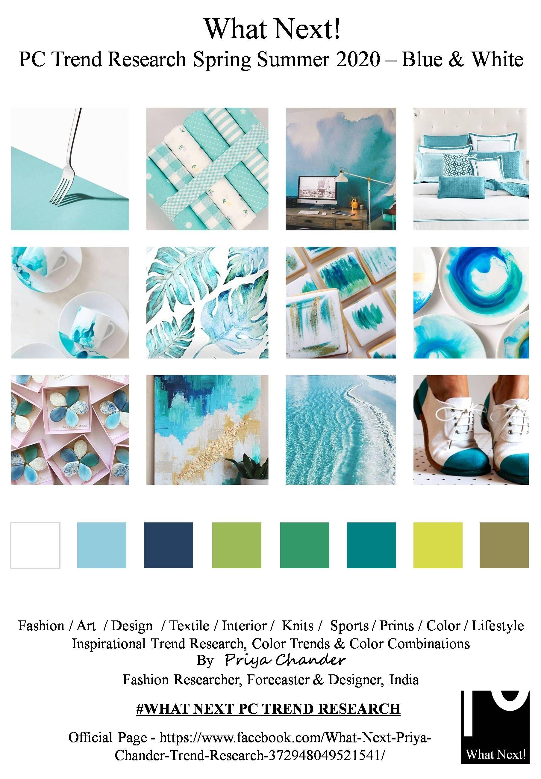 #Fashion #blue #bluecolor #blueandwhite #fashionprints # ...