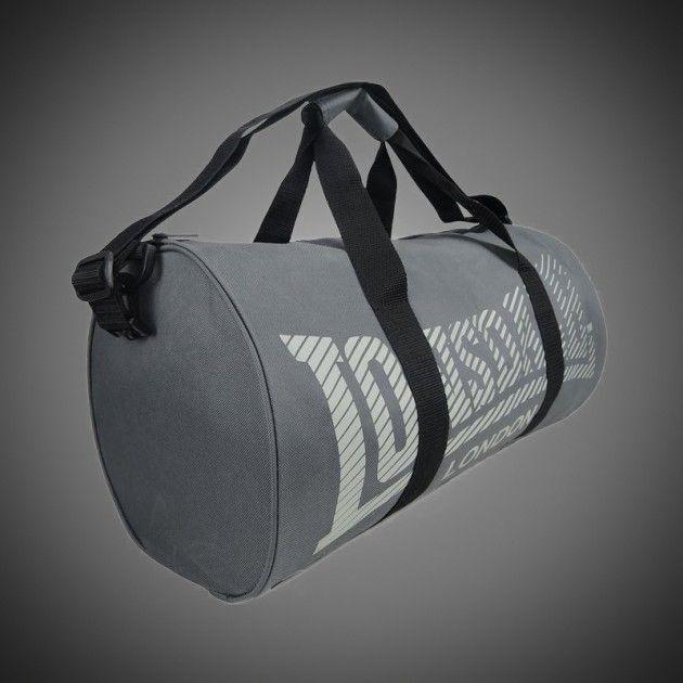 297fb6c6a1 Sportovní taška Lonsdale Barrel logo grey. Popruh na rameno připínatelný k  tašce. Dva klasické