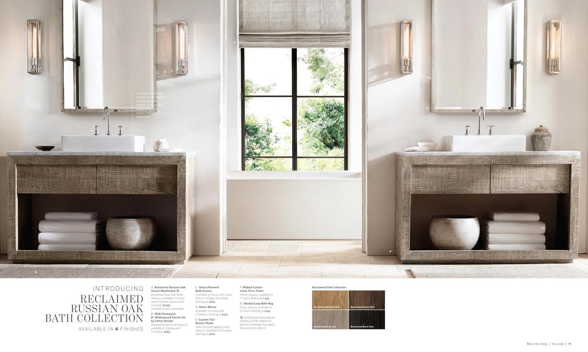 Reclaimed Russian Oak Bath Collection | Dream Home | Pinterest ...