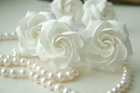 Blush Rose Bridal Hair Flower Bridal Hair Pin Rose Wedding Hair
