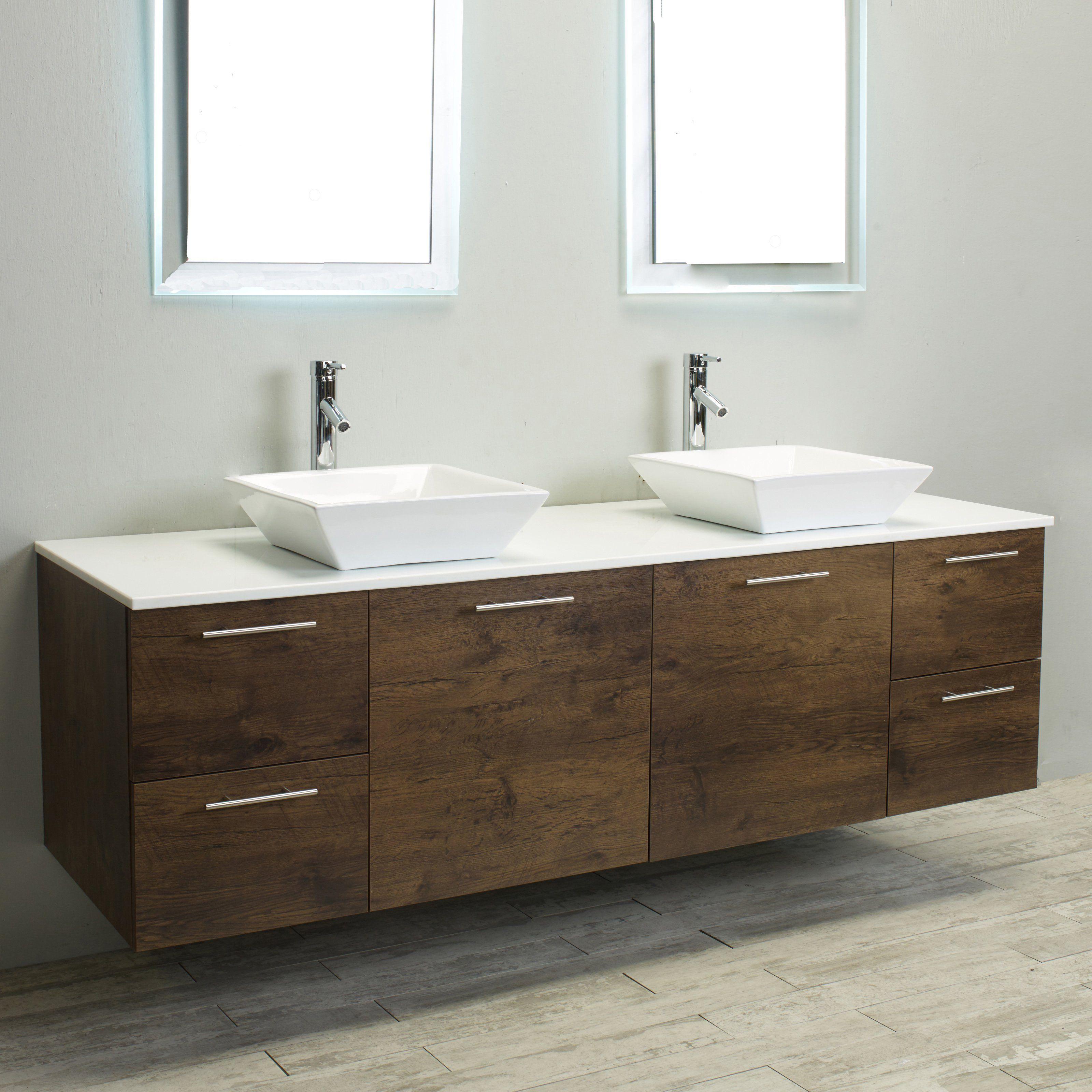 Eviva Luxury 72 in. Double Bathroom Vanity - EVVN823-72RSWD ...
