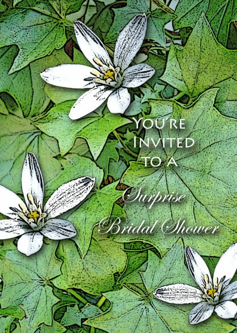 Suprise Bridal Shower Invitation, Flowering Ivy card Ad