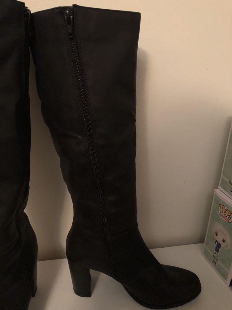 776894fe5b4 Attention Tall Black Boots W/heel Womens Sz7 EUC #fashion #clothing ...