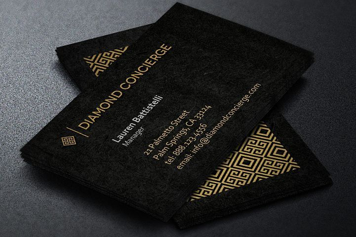 Concierge Business Card Template From DesignBundles