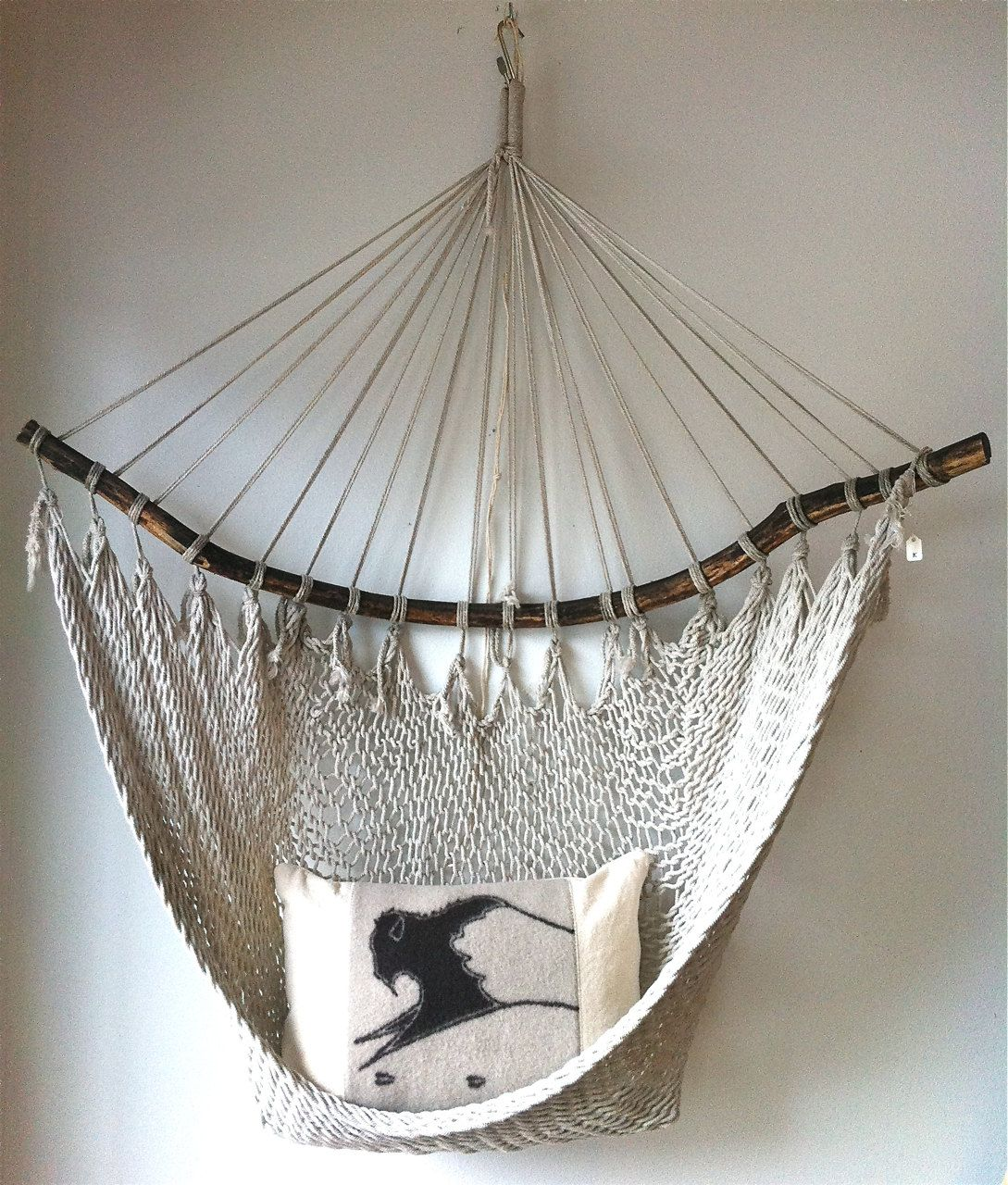 Vintage Hammock Chair / Fishnet Egg Chair Sling By Ethanollie, $98.00