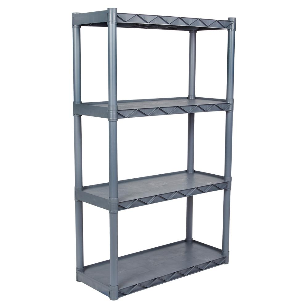 Plano 16 In X 31 In 4 Shelf Taupe Shelving Unit Light Taupe