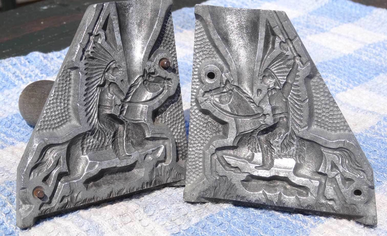 Vintage Toy Soldier Lead Mould / Mold - Indian Chief on