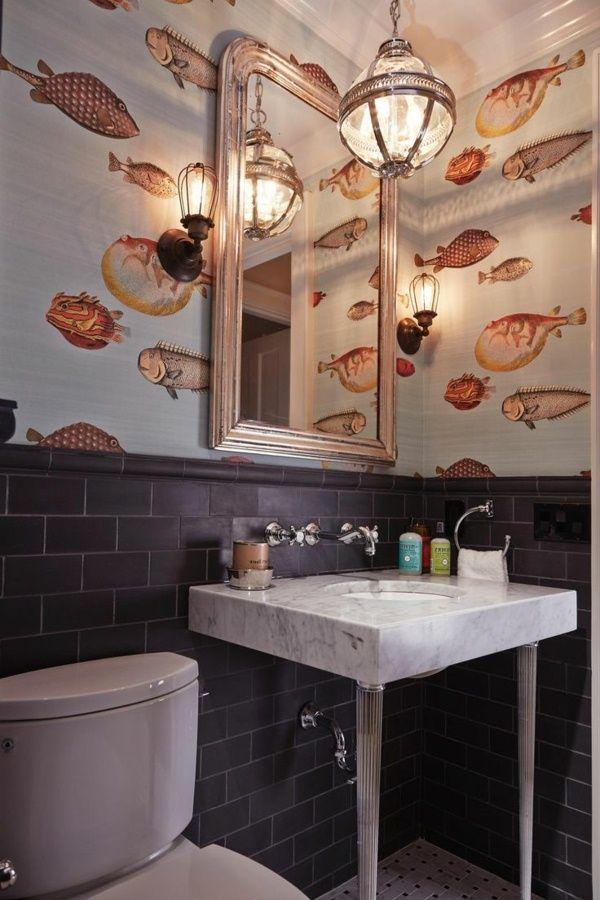 Bathroom Ideas Design Wallpaper Ideas Designed Wallpapers With Fish  Wallpaper Design