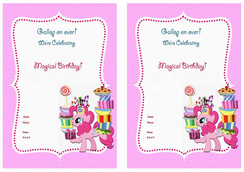 My Little Pony Birthday Invitations My Little Pony Party My Little Pony Birthday Pony Birthday