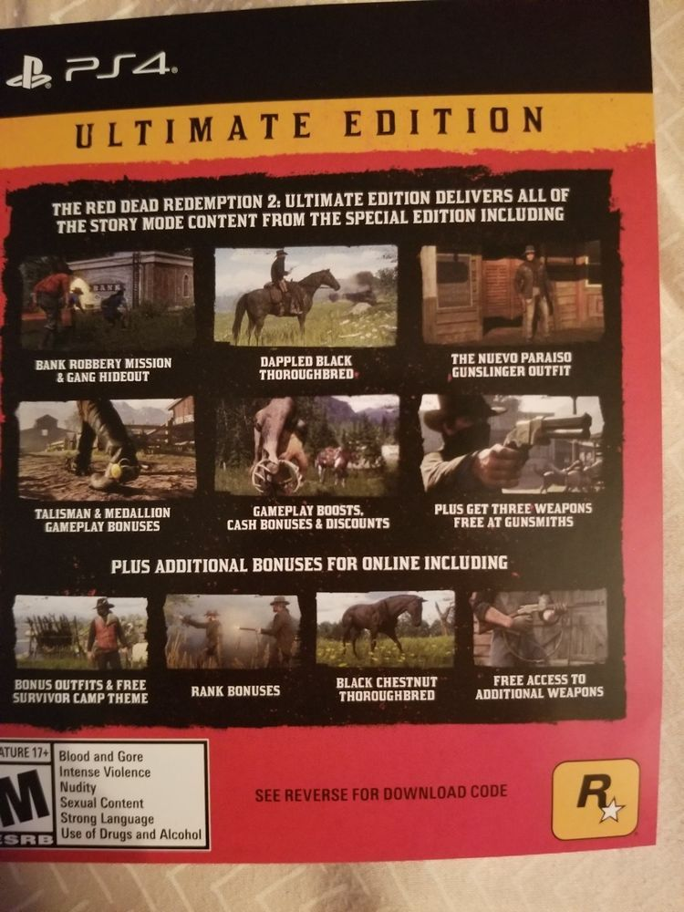 red dead redemption 2 ultimate edition content not working