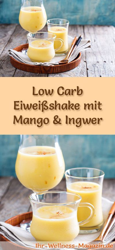 eiwei shake mit mango und ingwer low carb eiwei di t. Black Bedroom Furniture Sets. Home Design Ideas