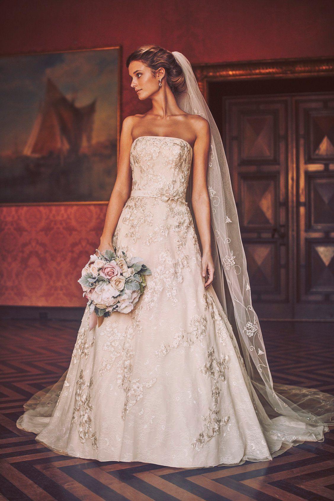 84d90b571bb Davids Bridal A Line Lace Wedding Dress - Gomes Weine AG