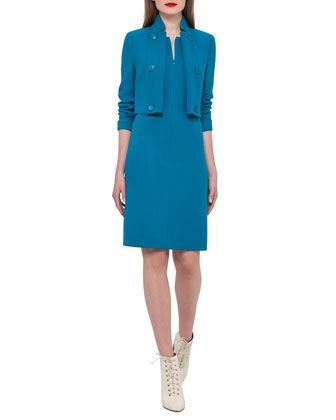 Dress+&+Jacket+by+Akris+at+Neiman+Marcus.