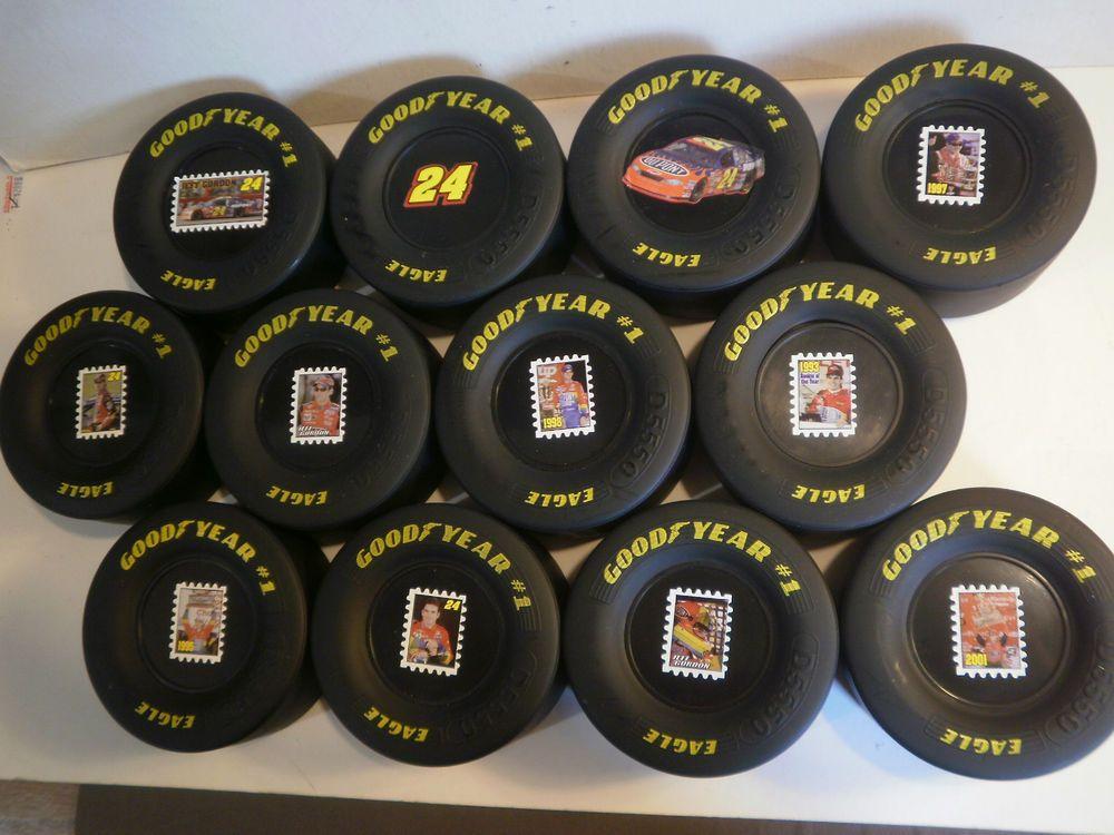 Set of 12 Jeff Gordon Goodyear Tires NASCAR Race Tire
