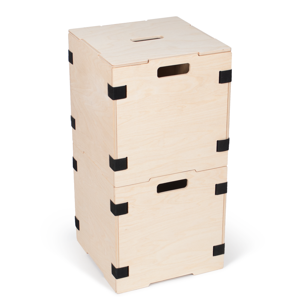 stackable wood cube storage box sprout stackable wood. Black Bedroom Furniture Sets. Home Design Ideas