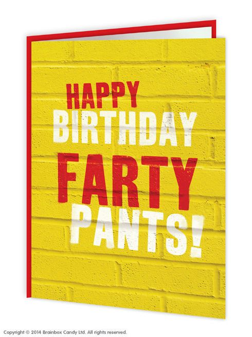 Funny Rude Birthday Card for Brother or Sister free postage