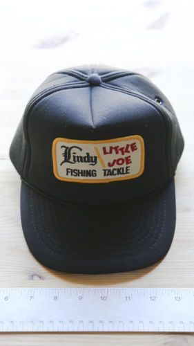8490608cf2a Vintage-Trucker-Hat-Lindy-Little-Joe-Fishing-Tackle-Snapback-Black ...