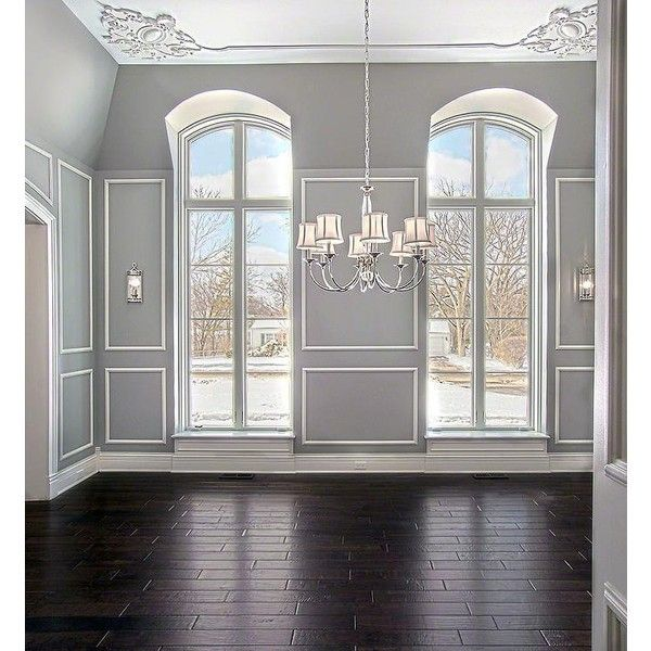 Arched Windows - Traditional - dining room - Blank and Baker ❤ liked on Polyvore featuring rooms, backgrounds, empty rooms, home and interior