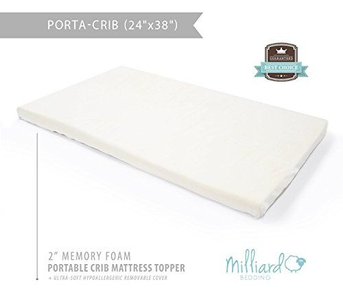 Milliard 2 Ventilated Memory Foam Portable Crib Mattress Cribs Pinterest Crib Mattress Crib And Mini Crib