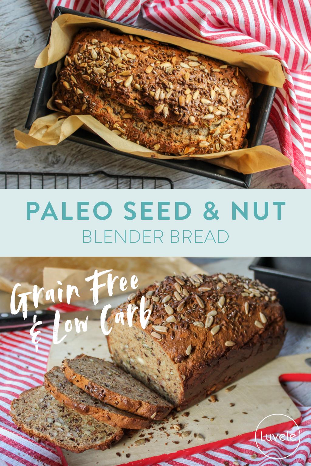 Paleo Nut Seed Blender Bread Paleo Nuts Bread Maker Recipes Gluten Free Recipes Bread