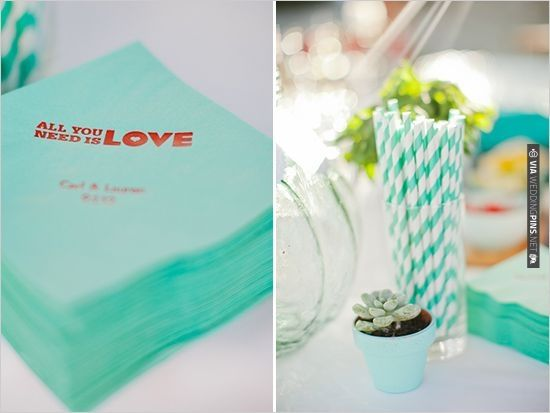 All You Need Is Love Wedding Invitations: All You Need Is Love Napkins