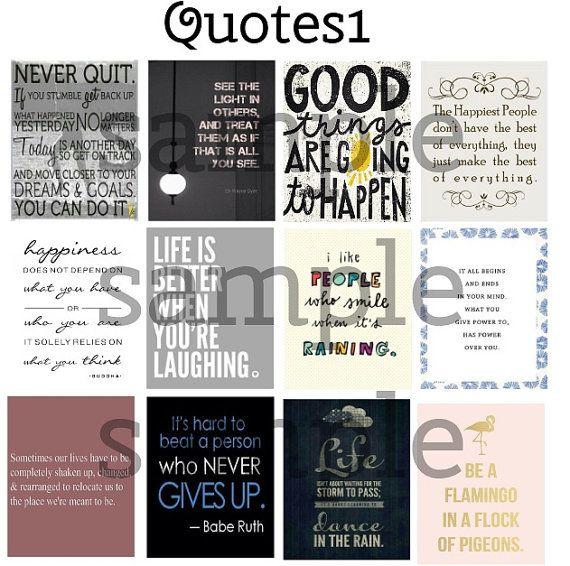 Quote, #1, Planner Stickers, Stickers for Erin Condren Planner, Motivation, Inspiration, Full Box, Flamingo, Light, Horizontal